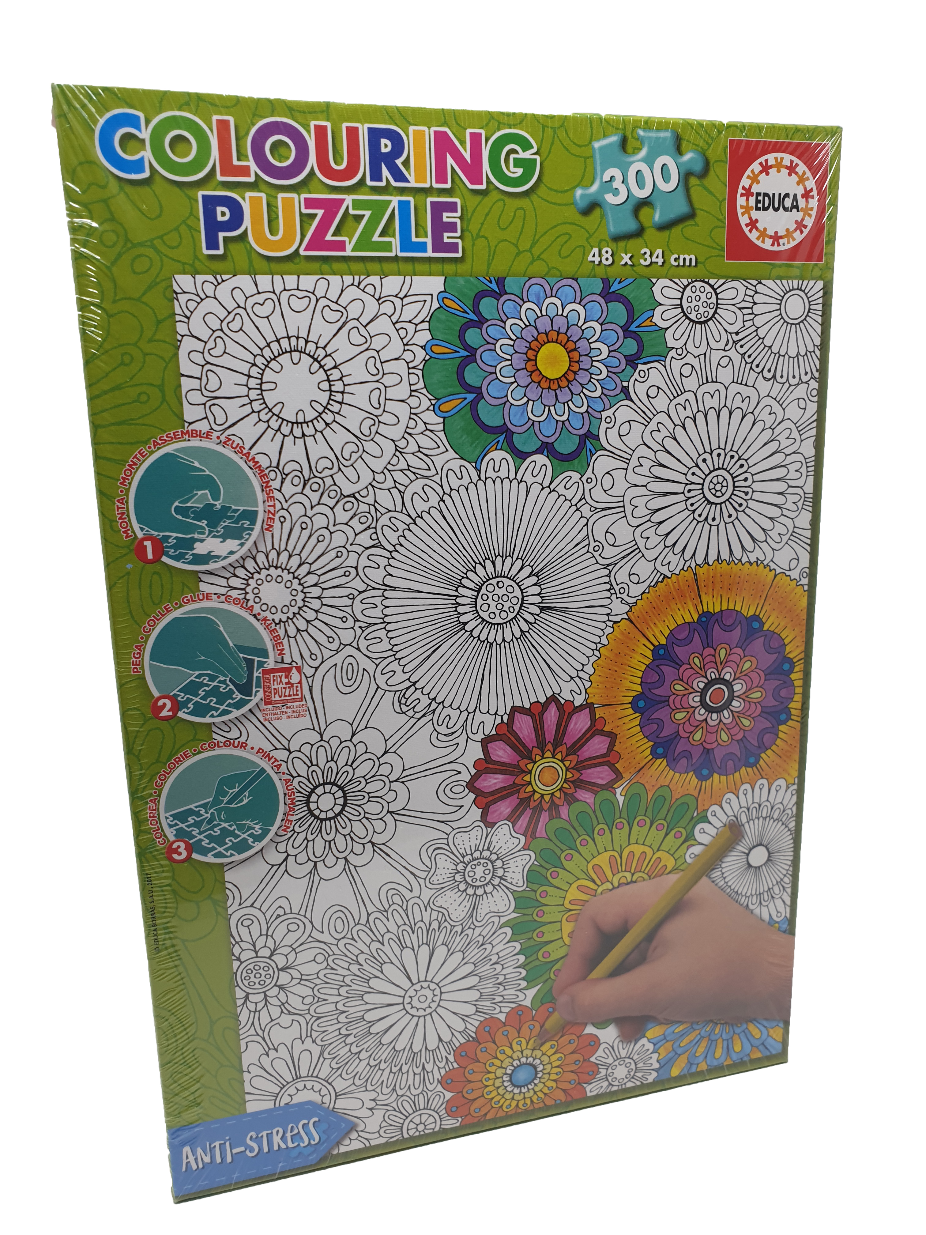 Puzzle colouring