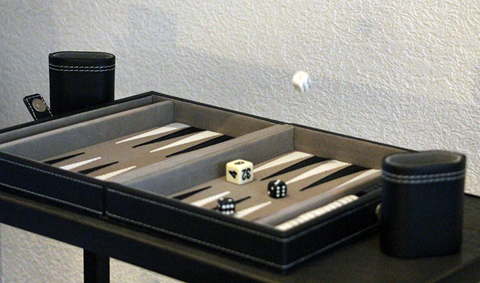 Backgammon beige & noir